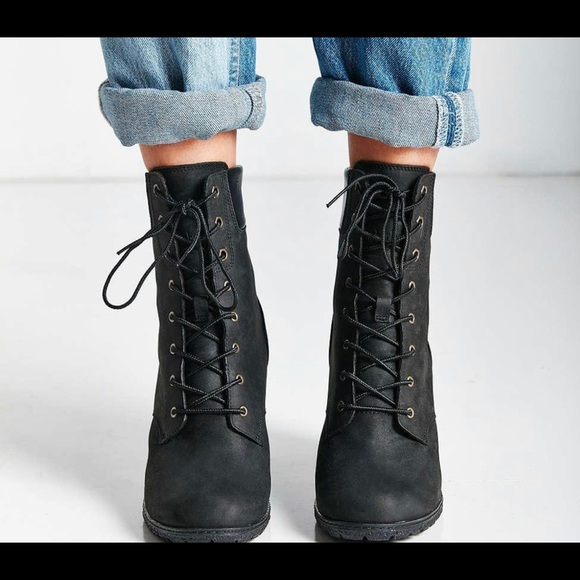 correr Que justa  Timberland Shoes | Black Leather High Heeled Sexy S 10 New | Poshmark